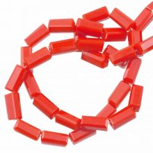 Glass Beads Opaque (7 x 3 mm) Tomato Red (80 pcs)