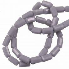 Glass Beads Opaque (7 x 3 mm) Dim Grey (80 pcs)