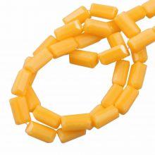 Glass Beads Opaque (7 x 3 mm) Honey Yellow (80 pcs)