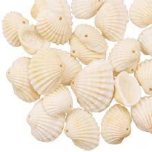 Shell Charm (10 - 13 x 14 - 18 x 6 mm) Creamy White (20 pcs)