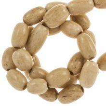 Bone Beads (9 x 5 mm) Brown (50 pcs)
