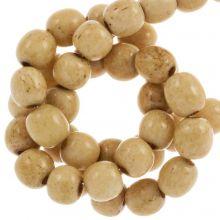 Bone Beads (6 mm) Brown (66 pcs)