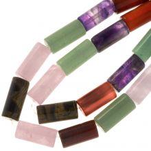 Gemstone Beads Mix Color (18 x 8 mm) 23 pcs