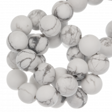 Howlite Beads Frosted (8 mm) 45 pcs