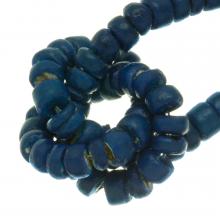Coconut Beads  (4 - 5 mm) Deep water Blue (110 pcs)