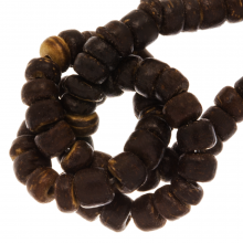 Coconut Beads (4 - 5 mm) Natural Brown (110 pcs)