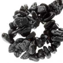 Gemstone Chips Snowflake Obsidian (8 - 12 mm) 150 pcs
