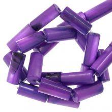 Shell Beads (10 x 4 mm) Violet (36 pcs)