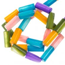 Shell Beads (10 x 4 mm) Mix Color (36 pcs)