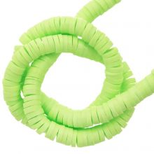 Polymer Clay Beads (4 x 1 mm) Light Lime (350 pcs)