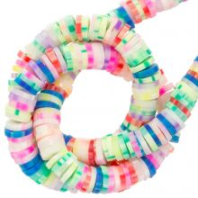 Polymer Clay Beads (6 x 1 mm) Mix Color Neon (300 pcs)