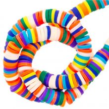 Polymer Clay Beads (6 x 1 mm) Mix Color Bright (300 pcs)
