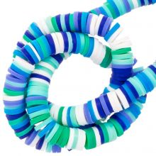 Polymer Beads (6 x 1 mm) Mix Color Blue (300 pcs)