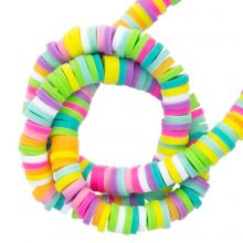 Polymer Clay Beads (4 x 1 mm) Mix Color Happy (300 pcs)