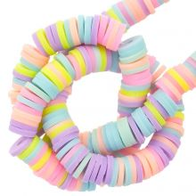 Polymer Clay Beads (6 x 1 mm) Mix Color Pastel (300 pcs)