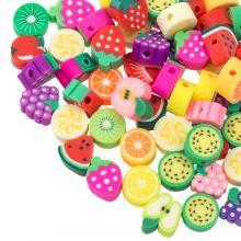 Bead Mix - Polymer Clay Beads Fruits (Various sizes) Mix Color (60 pcs)