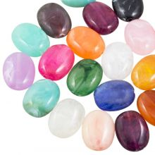 Acrylic Beads Natural Stone Look (19 x 15 mm) Mix Color (35 pcs)