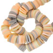 Polymer Clay Beads (6 x 1 mm) Mix Color Vanilla (300 pcs)