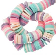 Polymer Clay Beads (6 x 1 mm) Mix Color Fancy (300 pcs)
