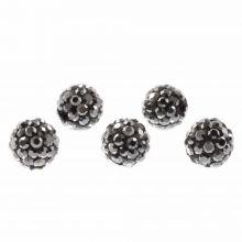 Shamballa Beads (10 mm) Antracite (5 pcs)