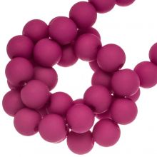 Acrylic Beads Mat (8 mm) Hot Pink (200 pcs)