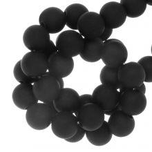 Acrylic Beads Mat (8 mm) Black (100 pcs)