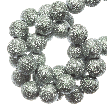 Acrylic Beads Stardust (8 mm) Ice Blue (180 pcs)