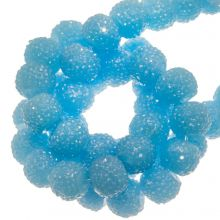 Acrylic Beads Rhinestone (8 mm) Sky Blue (25 pcs)
