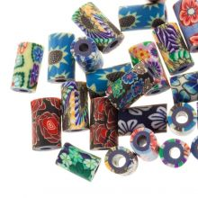 Polymer Clay Beads (11 x 6  mm) Mix Color (25 pcs)