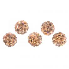 Shamballa Beads (10 mm) Light Salmon (5 pcs)
