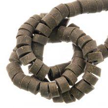 Polymer Clay Beads (6 x 3 mm) Dark Khaki (115 pcs)