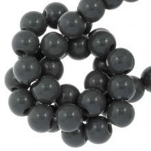 Acrylic Beads (6 mm) Dark Grey (100 pcs)