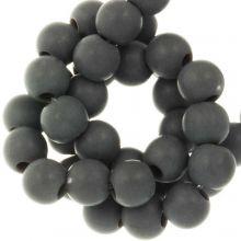 Acrylic Beads Mat (8 mm) Dark Grey (100 pcs)