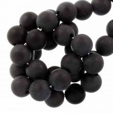 Acrylic Beads Mat (12 mm) Black (25 pcs)