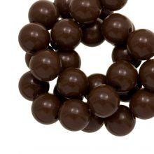 Acrylic Beads (12 mm) Brown (54 pcs)