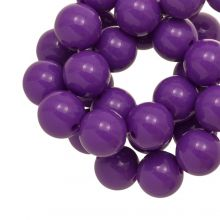 Acrylic Beads (12 mm) Clear Purple (54 pcs)