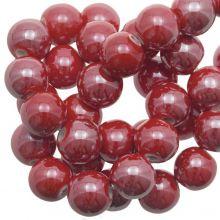 Ceramic Beads (10 mm) Red (20 pcs)