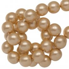 DQ Glass Pearls (6 mm) Semolina Matt (80 pcs)