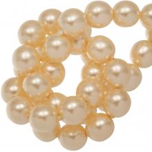 DQ Glass Pearls (8 mm) Tangerine Shine (75 pcs)