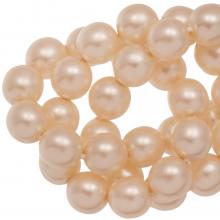DQ Glass Pearls (8 mm) Tangerine Matt (75 pcs)