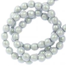 DQ Glass Pearls (2 mm) Smoked Silver (150 pcs)