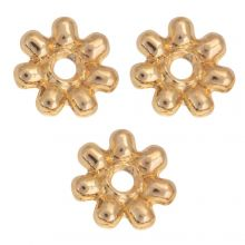 Metal Beads (6 mm) Gold (40 pcs)