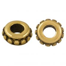 Stainless Steel Beads (6.5 x 3 mm) Antique Gold (1 pcs)