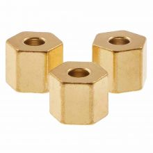 Stainless Steel Beads (4.5 x 4 mm) Gold (10 pcs)