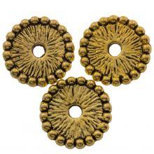 Metal Beads (12 x 10 mm) Antique Gold (15 pcs)