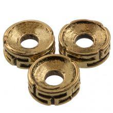Metal Beads (7.5 x 3 mm) Antique Gold (25 pcs)