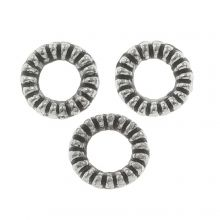 Metal Beads (4 mm) Antique Silver (50 pcs)
