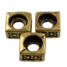 Metal Beads (5 x 5 mm) Antique Gold (25 pcs)