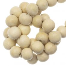 wooden beads round natural look