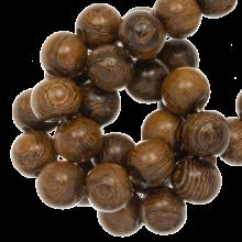 wood grain beads round size 8 mm
